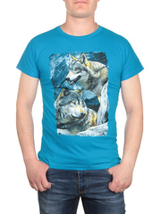 17612-1 футболка мужская, синяя