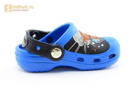 Сабо Крокс (Crocs) пляжные шлепанцы кроксы для мальчиков, цвет синий. Изображение 2 из 12.