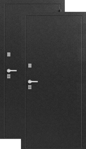 Дверь входная Легион T-3, 2 замка, 1,2 мм  металл, (серебро+серебро)