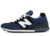 Кроссовки Мужские New Balance 996 Navy Black Suede White