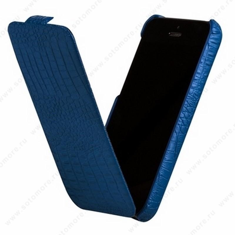Чехол-флип Borofone для iPhone 5C - Borofone Crocodile Flip case Image series Blue