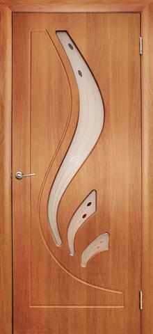 Дверь Дубрава Сибирь Лилия, цвет миланский орех, остекленная