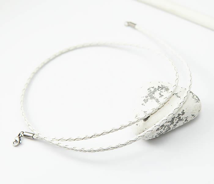 PL288-2 Белый шнурок для подвески из искусственной кожи