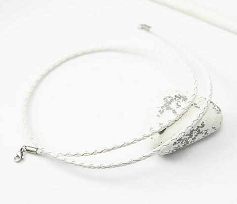 Белый шнурок для подвески из искусственной кожи