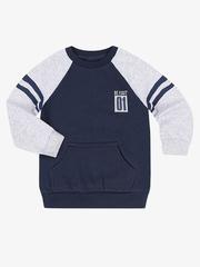 BAC004986 джемпер детский, синий/серый