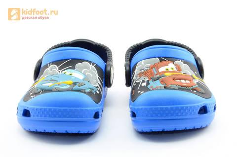 Сабо Крокс (Crocs) пляжные шлепанцы кроксы для мальчиков, цвет синий. Изображение 4 из 12.