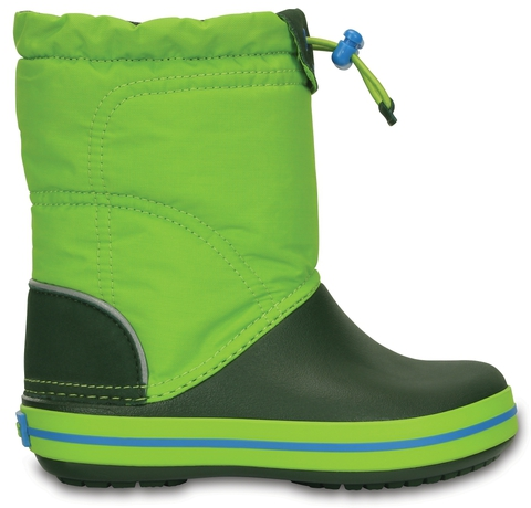 Детские сапожки Крокс Kids' Crocband LodgePoint Boot Lime/Forest Green фото 203509