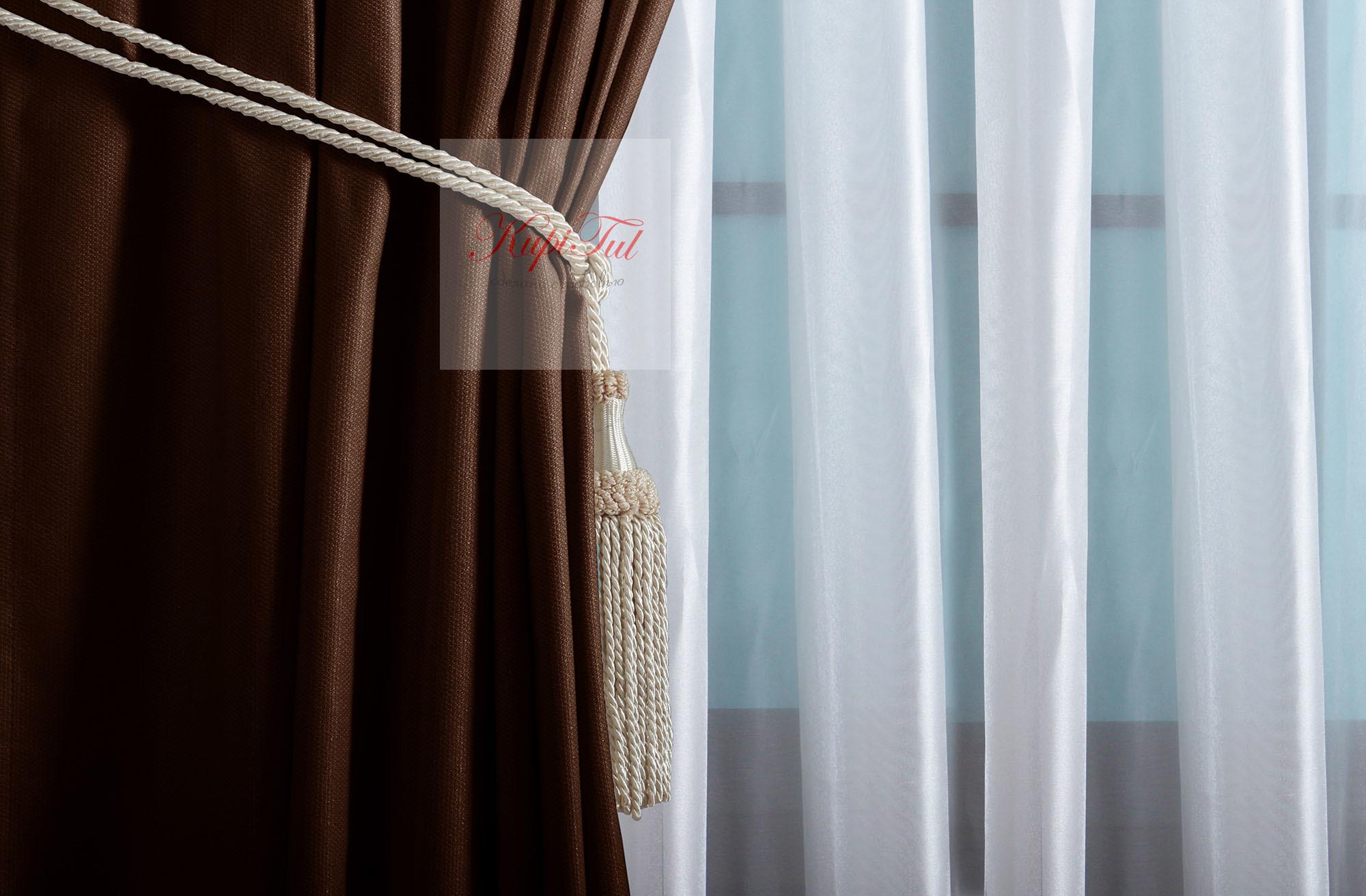 Комплект штор Ницца (венге)