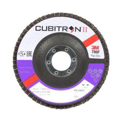 3М Лепестковый круг Cubitron II абразивный фибровый Р80 115мм х 22мм  33472