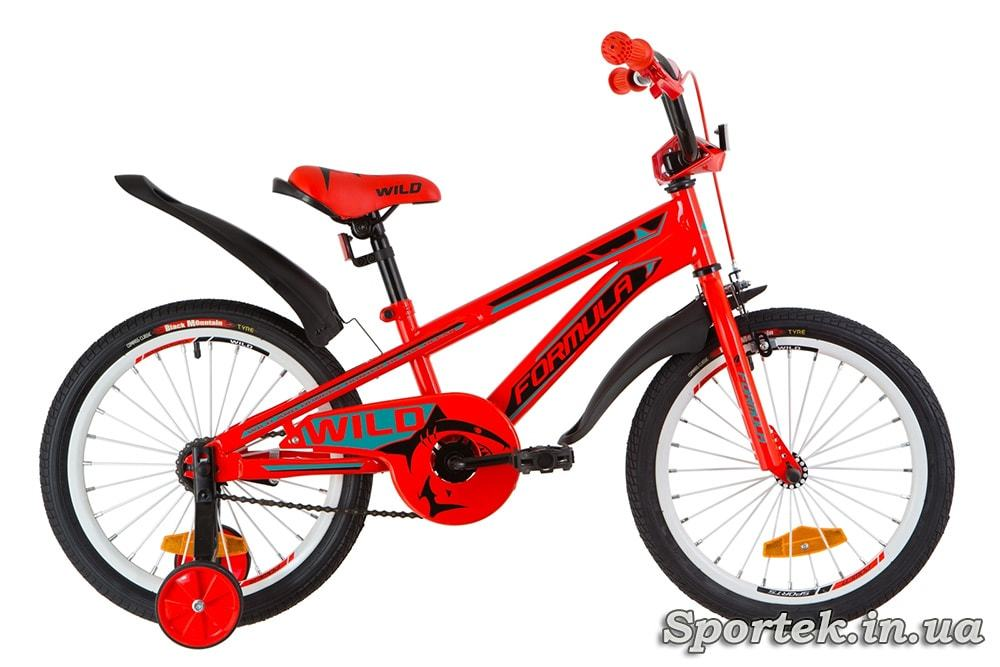Детский велосипед Formula Wild - красно-бирюзовый