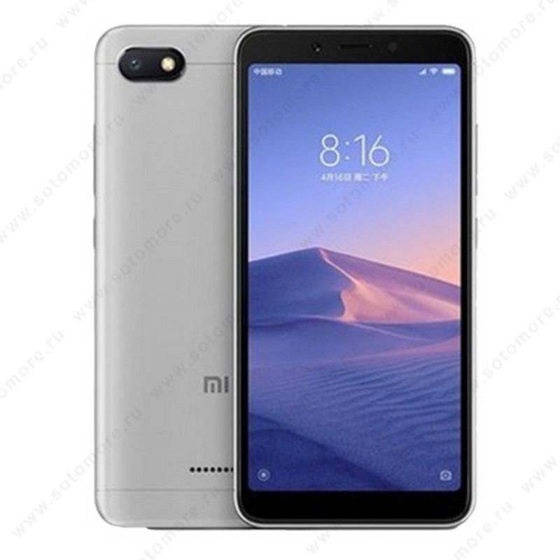 Смартфон Xiaomi Redmi 6A 2/32Gb серебристый Глобальная версия