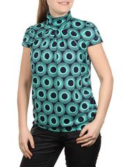 A100-11 блузка женская, сине-зеленая