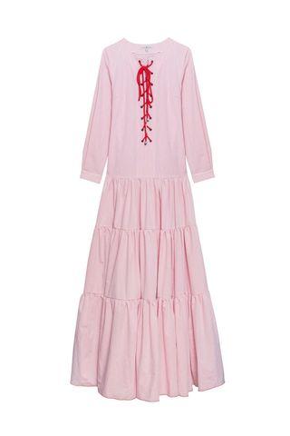Платье ПРИБОЙ с длинным рукавом_red