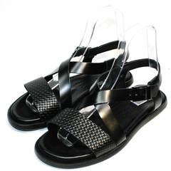Сандалии мужские кожаные Roberto Verbano 74609 Black.