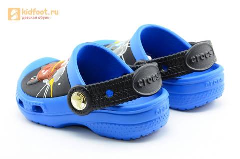 Сабо Крокс (Crocs) пляжные шлепанцы кроксы для мальчиков, цвет синий. Изображение 6 из 12.
