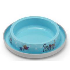 Moderna миска одинарная нескользящая Друзья навсегда с защитой от муравьев, ярко-голубая 0,21 л