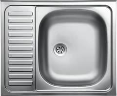 Мойка КромРус S-417 для кухни из нержавеющей стали, левая