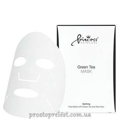 Princess Face Mask With Green Tea - Маска для лица на нетканой основе с экстрактом зелёного чая