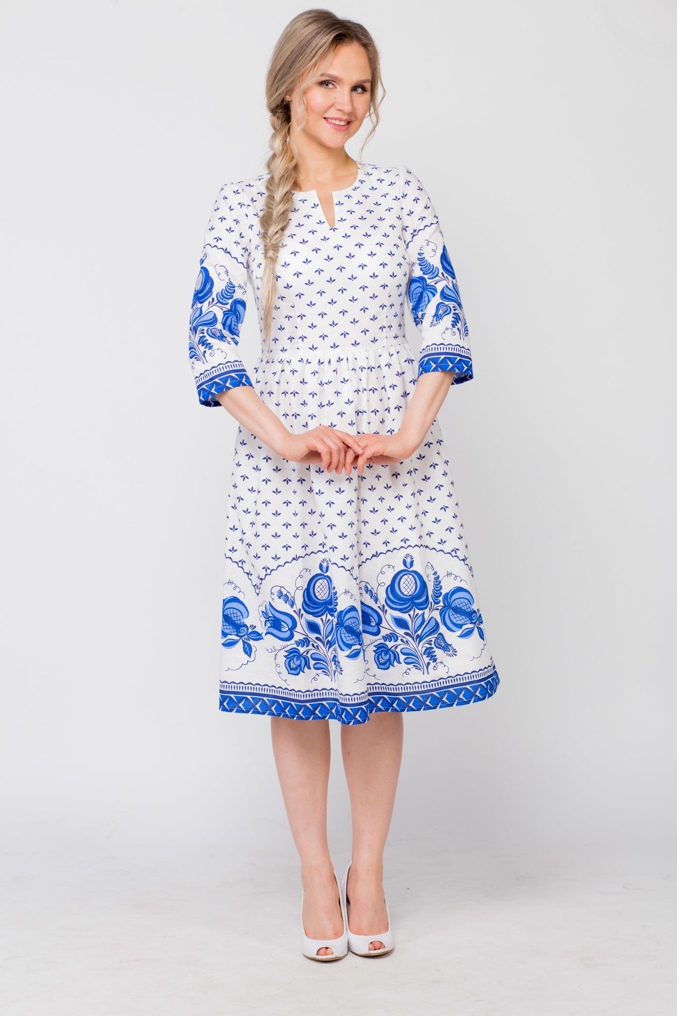 Платье Сказочная гжель от Иванки