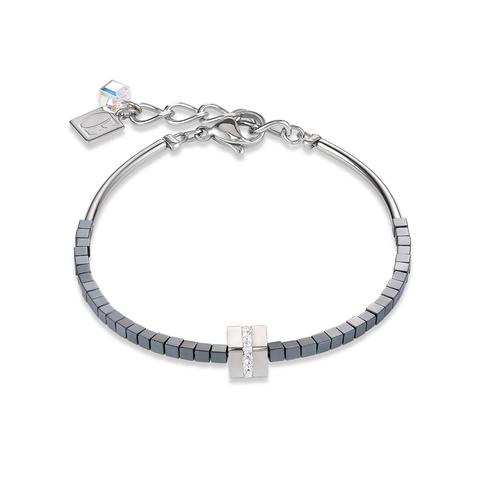 Браслет Coeur de Lion 4966/30-1700 цвет серый, серебряный
