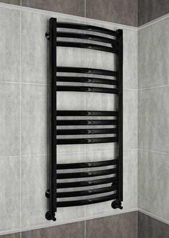 Palermo Black  - черный дизайн полотенцесушитель