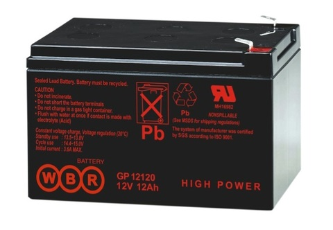 Аккумулятор WBR 12 А/ч  GP 12120