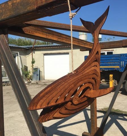 Светильник кит из фанеры