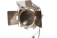 Прожектор напольный на треноге Secret de Maison ( mod. 49987 ) — никель/натуральное дерево