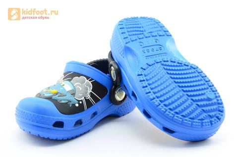 Сабо Крокс (Crocs) пляжные шлепанцы кроксы для мальчиков, цвет синий. Изображение 8 из 12.