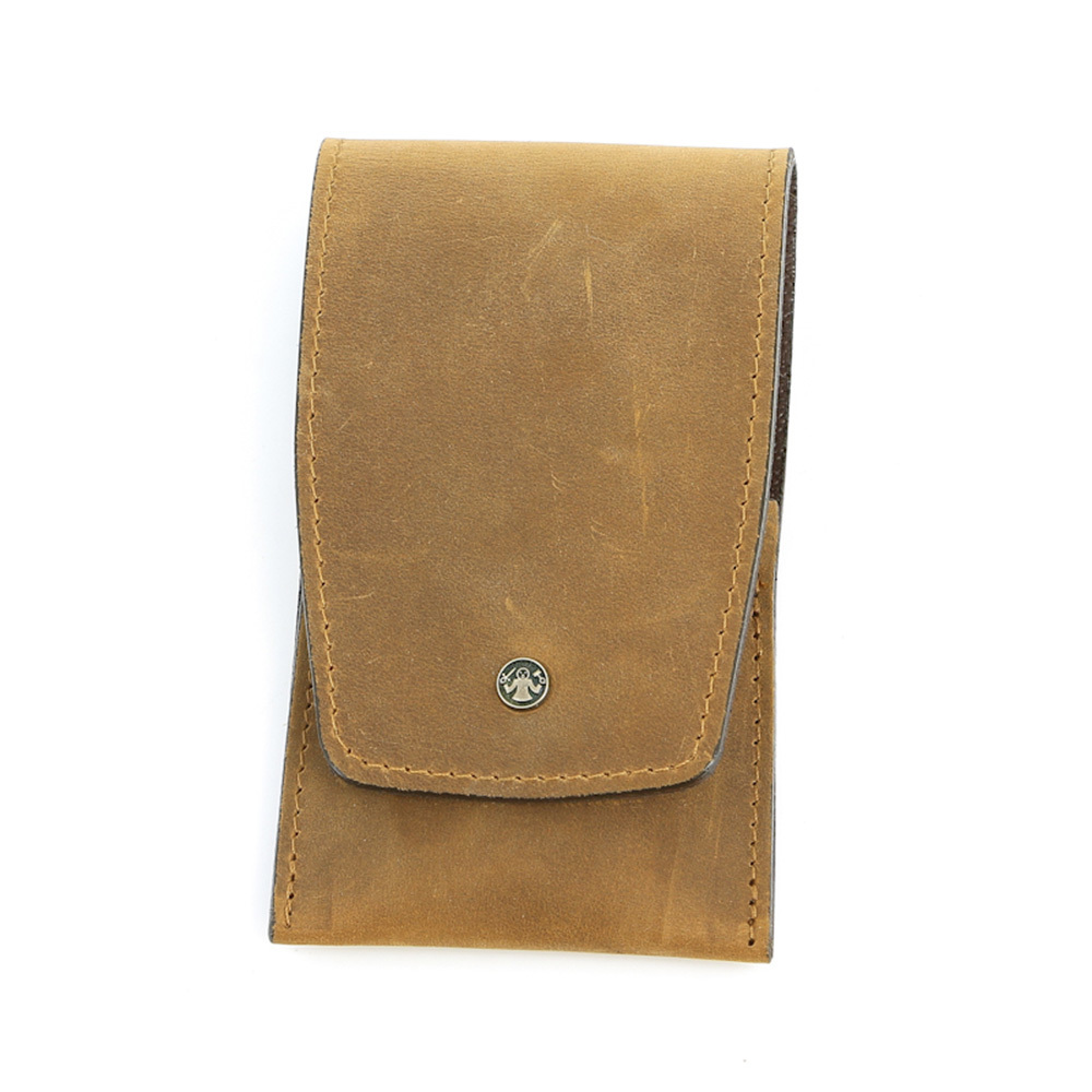 Маникюрный набор Dovo, 4 предмета, цвет коричневый, кожаный футляр