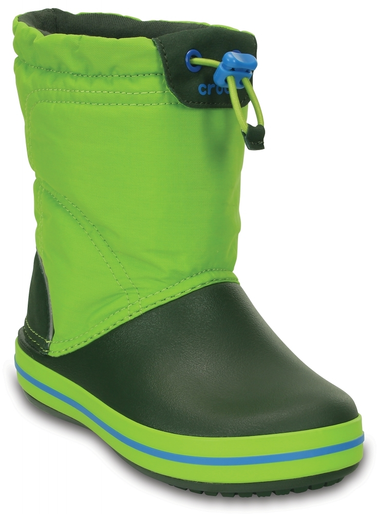 Детские сапожки Crosc  Kids' Crocband LodgePoint Boot Lime/Forest Green 203509