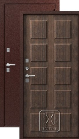 Дверь входная Легион T-4, 2 замка, 1,2 мм  металл, (медь+тиковое дерево)