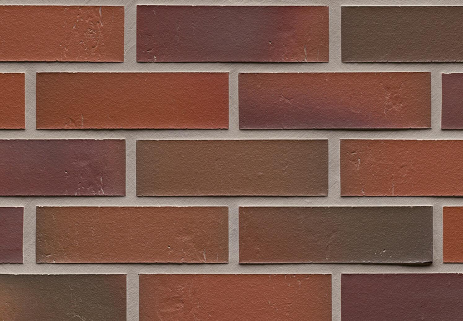Feldhaus Klinker - R714NF14, Accudo Carmesi Bluastro, 240x14x71 - Клинкерная плитка для фасада и внутренней отделки