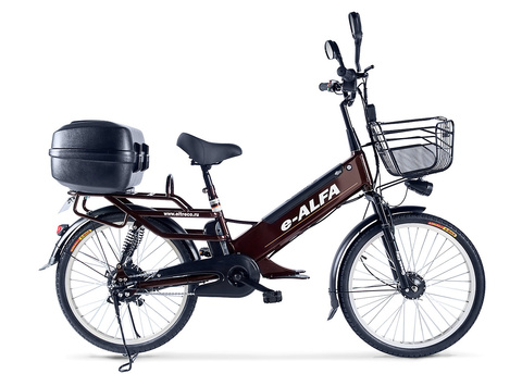 Велогибрид e-ALFA GL с кофром