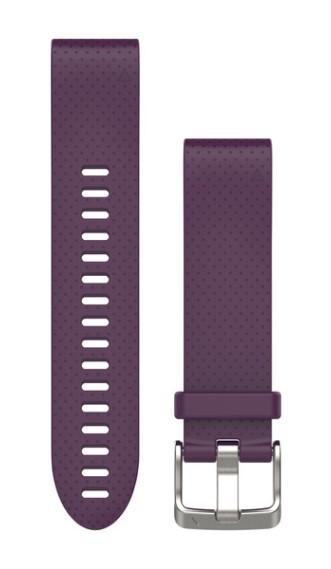 Силиконовый ремешок Garmin QuickFit 20 мм фиолетовый