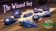 Wizard Set: Lapis Lazuli & Glittering Gold