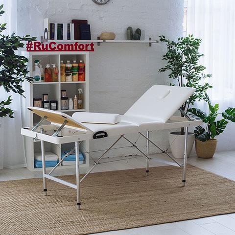 Складной массажный стол RuComfort (190х70х75-95 см) Comfort ETALON 190Р