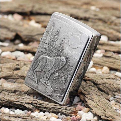 Зажигалка Zippo 20855 Timberwolves emblem с волками