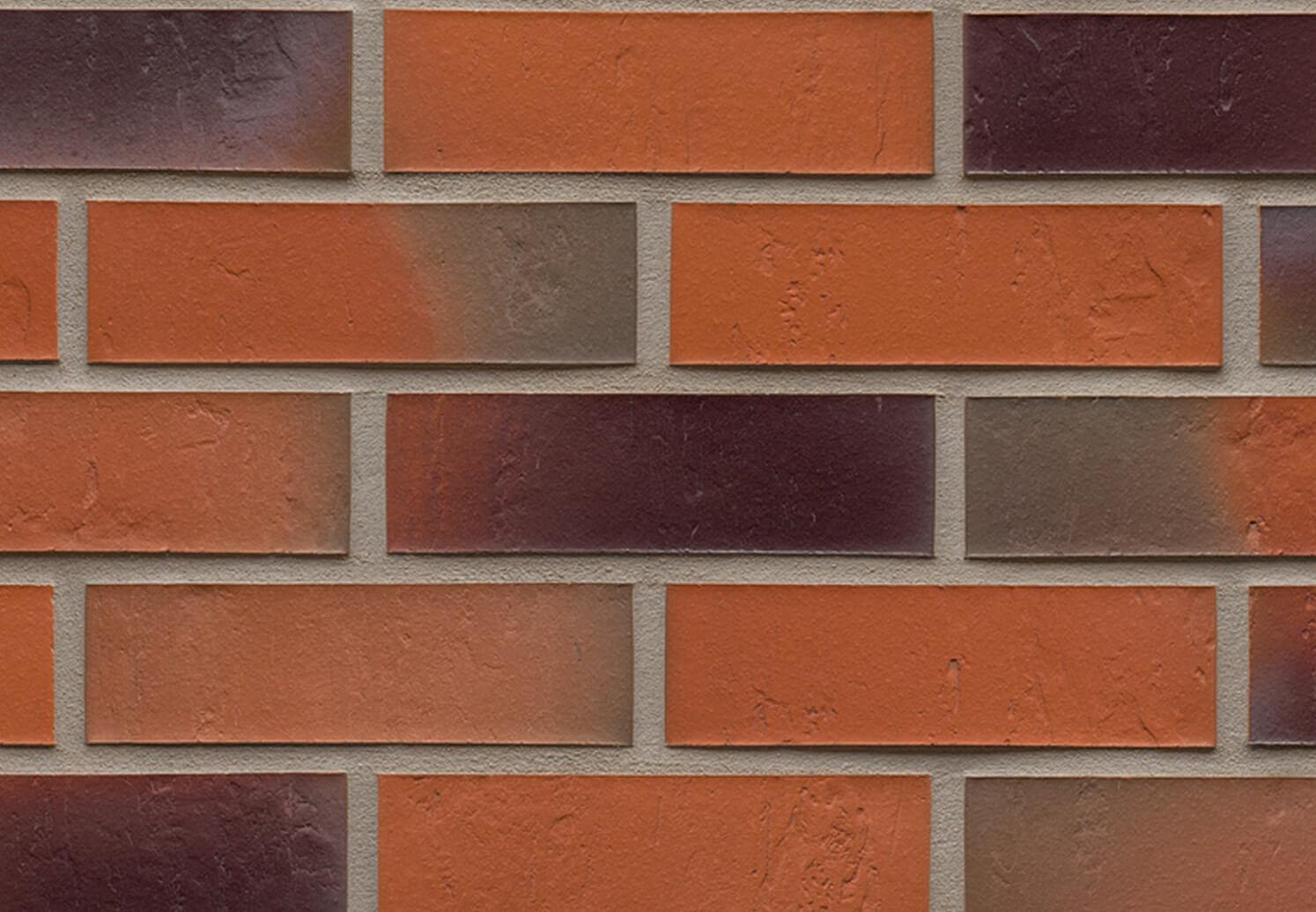 Облицовочная клинкерная плитка Feldhaus Klinker, Accudo, R715NF14, поверхность под шагрень, terreno bluastro