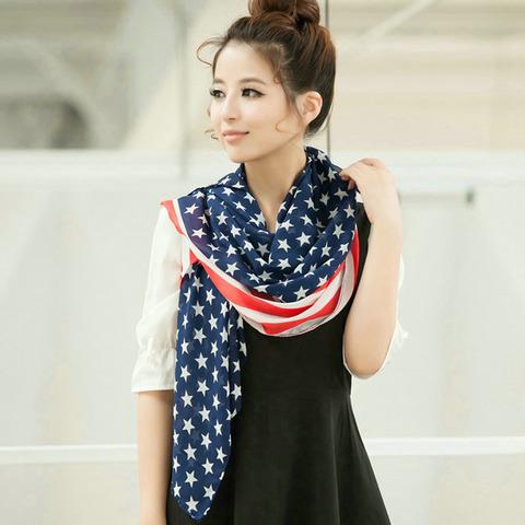 Fashion style scarf — American flag