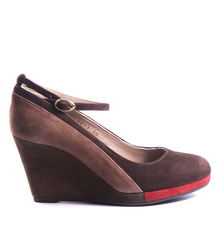 Замшевые туфли на платформе