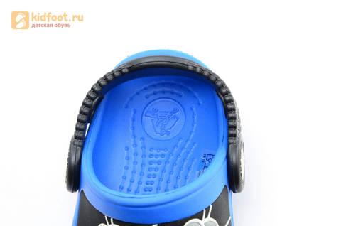Сабо Крокс (Crocs) пляжные шлепанцы кроксы для мальчиков, цвет синий. Изображение 12 из 12.