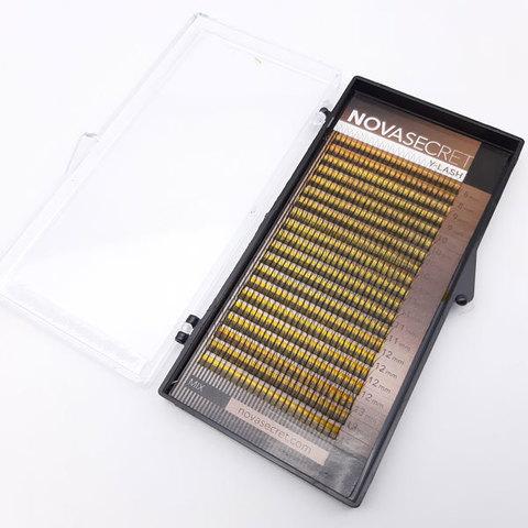 """Ресницы для наращивания NOVASEСRET ultimate черные, 2-D (Y-тип), изгиб """"D mix"""""""