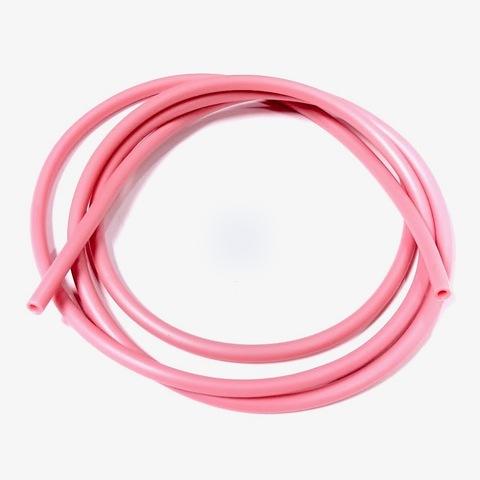 Шнур каучук толщина 4.0 мм  1 метр розовый
