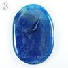 Подвеска Агат Крэкл (тониров), цвет - синий, 54-70 мм (№3 (63х44 мм)(ПОТЕРТОСТИ/ВЫЕМКИ))