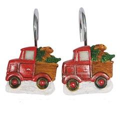 Набор из 12 крючков для шторки Blonder Home Truckin With Santa