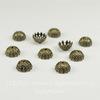 Шапочка для бусины ажурная (цвет - античная бронза) 8х4 мм - 10 штук