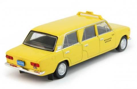 VAZ-2101 Lada stretched Taxi Cuba yellow 1:43 DeAgostini Auto Legends USSR #201
