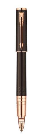 Ручка Пятый пишущий узел Parker INGENUITY, цвет - коричневый\розовое золото, декоративное перо