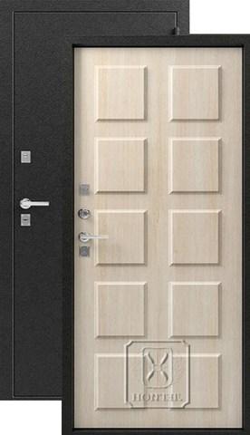 Дверь входная Легион T-4, 2 замка, 1,2 мм  металл, (серебро+седой дуб)